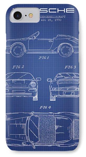 Porsche Patent From 1990 - Blueprint IPhone Case