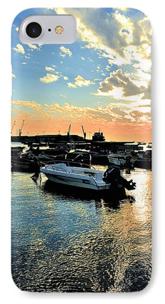 Port At Sunset IPhone Case by Marwan Khoury