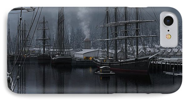 IPhone Case featuring the painting Winter's Warmth by Ron Crabb