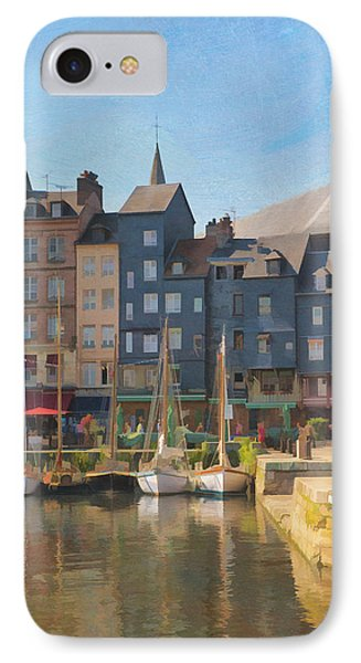 Port D'honfleur IPhone Case by Jean-Pierre Ducondi