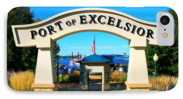 Port Of Excelsior Phone Case by Perry Webster