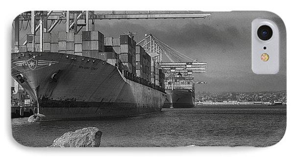 Port Of Long Beach IPhone Case by Joseph Hollingsworth
