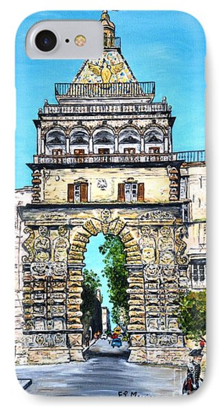 Porta Nuova - Palermo IPhone Case by Loredana Messina