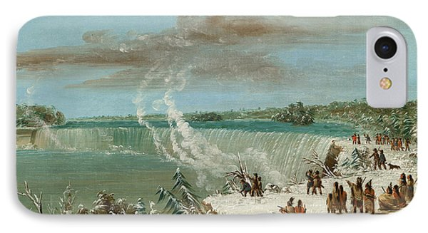 Portage Around The Falls Of Niagara At Table Rock IPhone Case by George Catlin