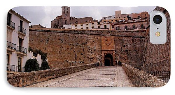 Portal De Ses Taules In Ibiza Town IPhone Case by Karol Kozlowski