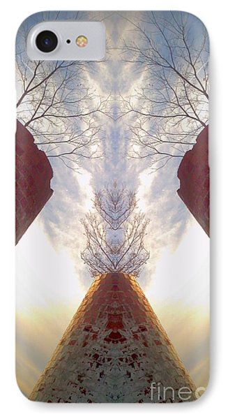 Portal Of The Silos IPhone Case by Karen Newell