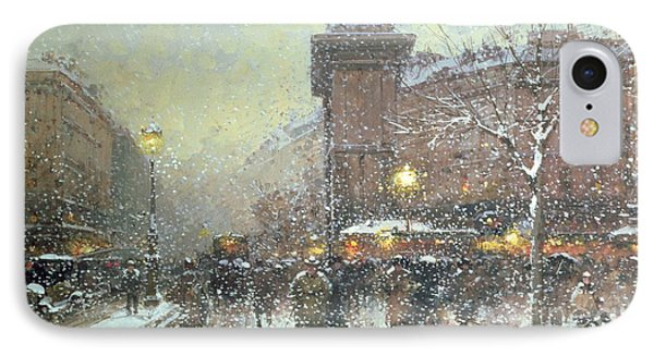 Porte St Martin In Paris Phone Case by Eugene Galien Laloue