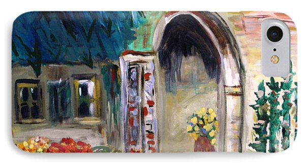 IPhone Case featuring the painting Portico by Mary Carol Williams