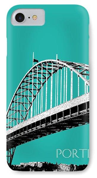 Portland Bridge - Teal IPhone Case