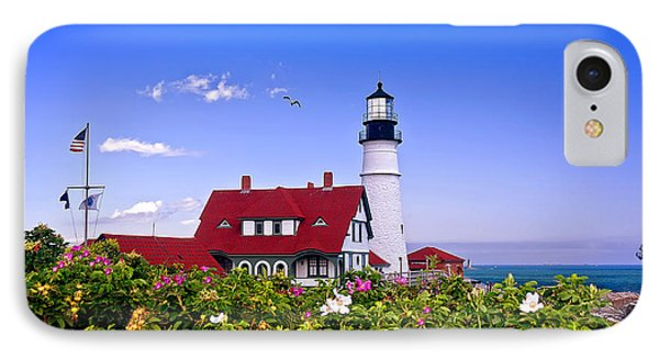 Portland Head Light And Roses IPhone Case