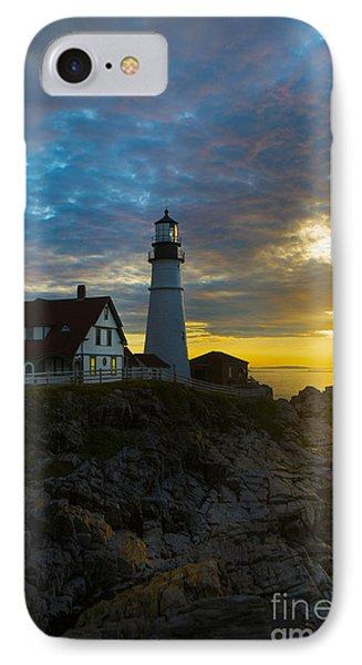 Portland Head Light At Dawn IPhone Case by Diane Diederich