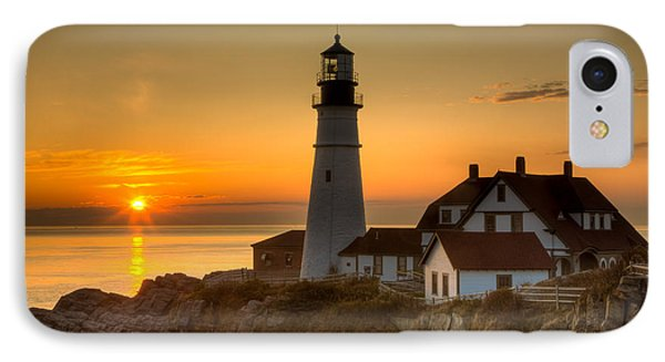 Portland Head Light At Sunrise II IPhone Case