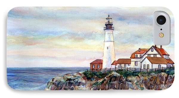 Portland Head Light In Maine Phone Case by Pamela Parsons