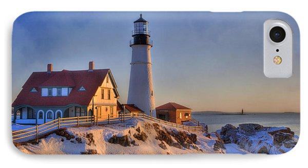 Portland Head Light - New England Lighthouse - Cape Elizabeth Maine IPhone Case by Joann Vitali