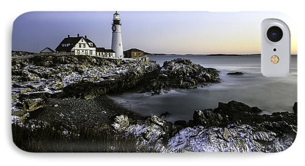 Portland Head Lighthouse At Dawn IPhone Case by Betty Denise