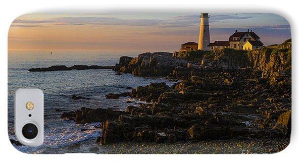 Portland Head Lighthouse At Dawn Phone Case by Diane Diederich