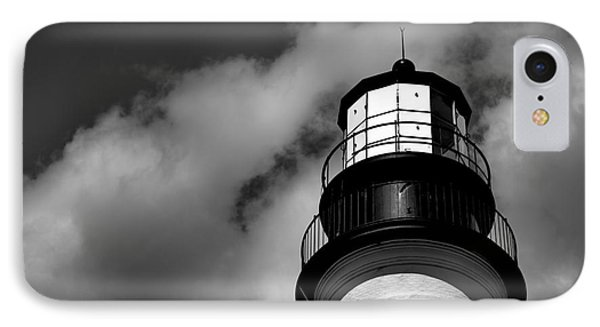 Portland Head Lighthouse In Black And White IPhone Case by Diane Diederich