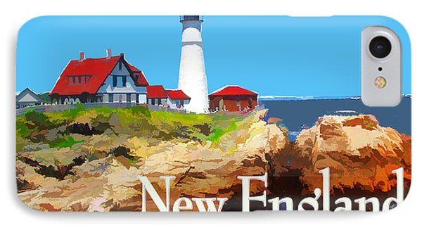 Portland Head Lighthouse New England IPhone Case