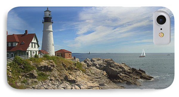 Portland Head Lighthouse Panoramic Phone Case by Mike McGlothlen