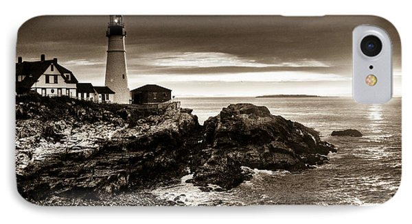 IPhone Case featuring the photograph Portland Head Lighthouse Sunrise by Alana Ranney