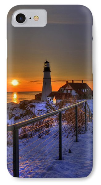Portland Head Lighthouse Sunrise - Maine IPhone Case by Joann Vitali