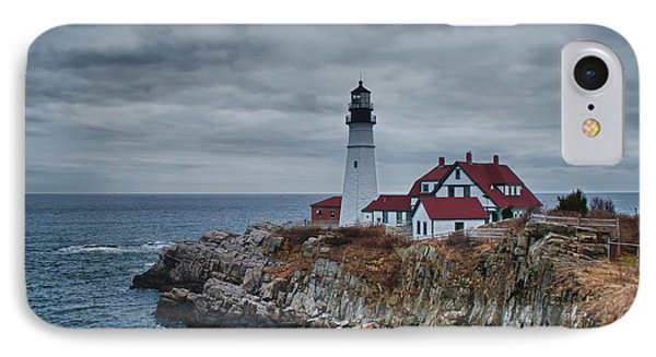 IPhone Case featuring the photograph Portland Headlight 14440 by Guy Whiteley