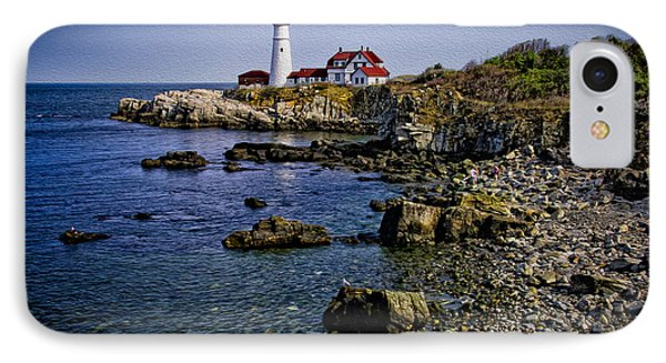 Portland Headlight 37 Oil IPhone Case by Mark Myhaver