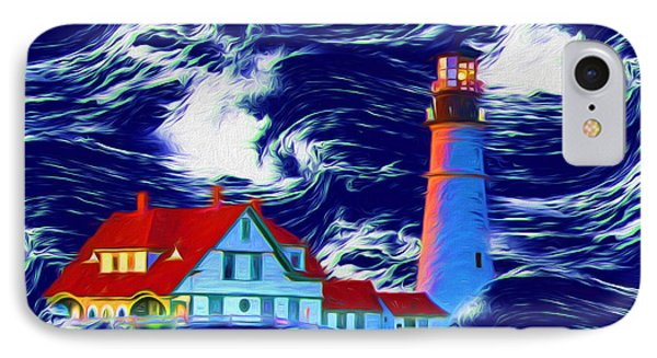 Portland Maine IPhone Case by John Haldane