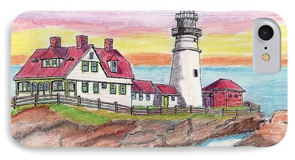 Portland Me Lighthouse IPhone Case by Paul Meinerth