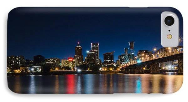 Portland Oregon Nightscape IPhone Case by Don Schwartz