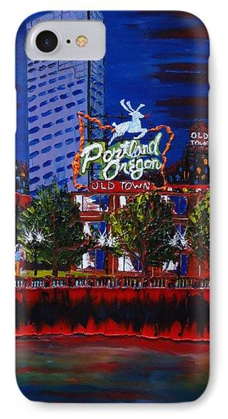 Portland Oregon Sign 15 Phone Case by Portland Art Creations