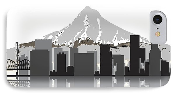 Portland Oregon Skyline 2 IPhone Case