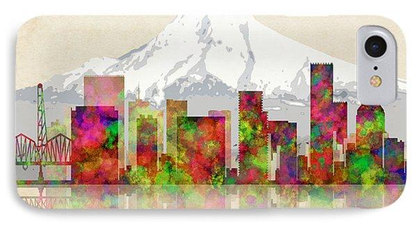 Portland Oregon Skyline IPhone Case