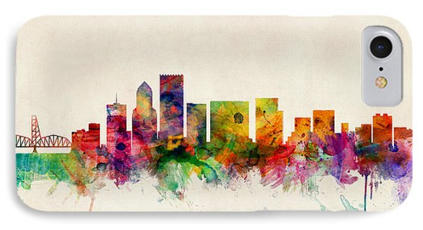 Portland Oregon Skyline IPhone Case by Michael Tompsett