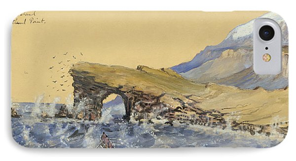 Portland Point Natural Bridge Circa 1862 IPhone Case by Aged Pixel