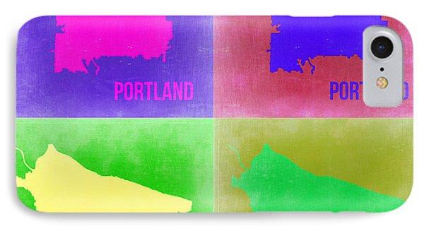 Portland Pop Art Map 2 IPhone Case by Naxart Studio