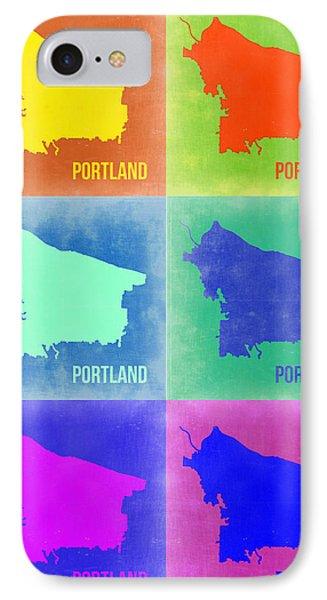 Portland Pop Art Map 3 IPhone Case by Naxart Studio