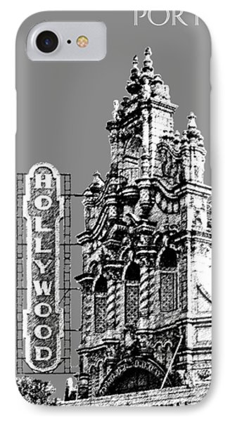 Portland Skyline Hollywood Theater - Pewter IPhone Case by DB Artist