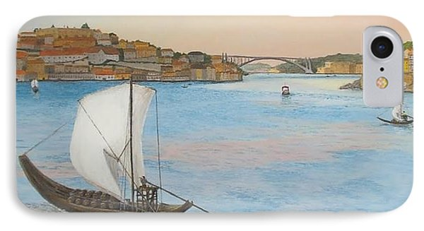 IPhone Case featuring the painting Porto by Hilda and Jose Garrancho