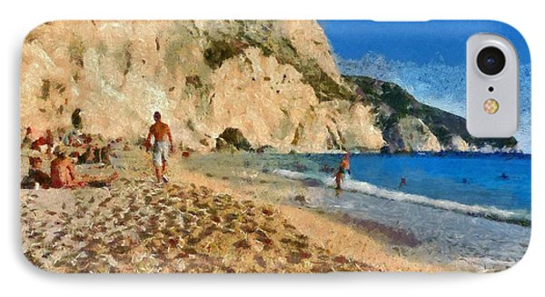 Porto Katsiki Beach In Lefkada Island Phone Case by George Atsametakis