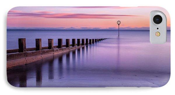 Portobello Beach Groynes Color IPhone Case by John Farnan