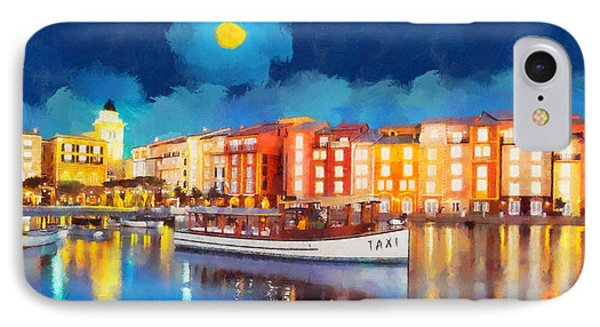 Portofino By Night Phone Case by George Rossidis