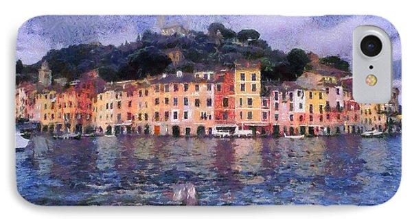 Portofino In Italy Phone Case by George Atsametakis