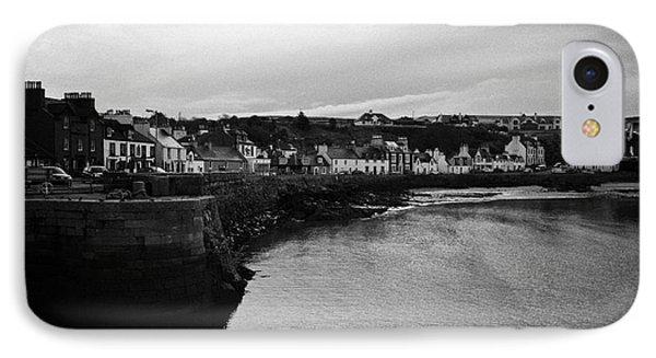 Portpatrick Village And Breakwater Scotland Uk Phone Case by Joe Fox