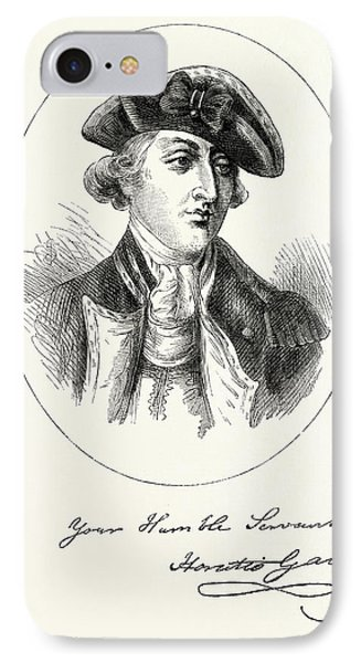 Portrait And Autograph Of General Horatio Gates IPhone Case by English School