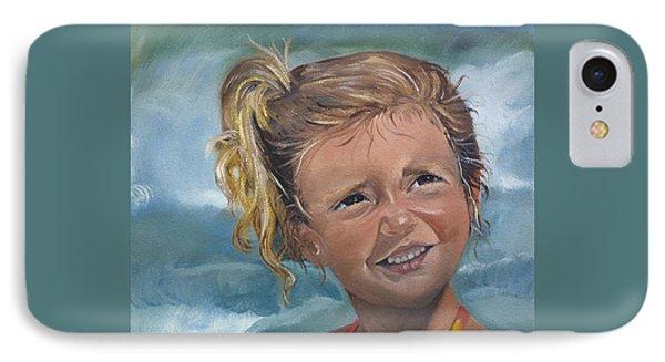 Portrait - Emma - Beach IPhone Case by Jan Dappen