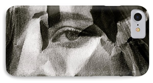 Portrait In Black And White IPhone Case by Michael Cinnamond
