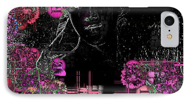 Portrait In Black - S01-02b Phone Case by Variance Collections
