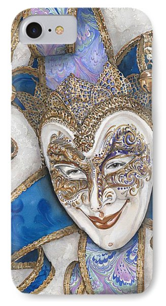 Portrait In Jester Mask - Venice - Acryl - Elena Yakubovich IPhone Case