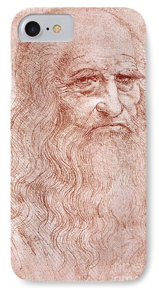 Portrait Of A Bearded Man IPhone Case by Leonardo da Vinci
